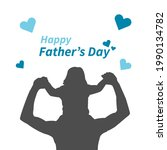 happy father's days card design ...   Shutterstock .eps vector #1990134782