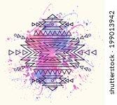 vector decorative ethnic...   Shutterstock .eps vector #199013942