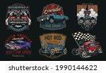custom cars vintage colorful... | Shutterstock .eps vector #1990144622