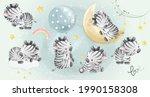 cute little safari zebra... | Shutterstock .eps vector #1990158308
