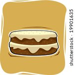 hamburger in brownish... | Shutterstock .eps vector #19901635