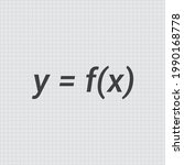general notation for functions...   Shutterstock .eps vector #1990168778