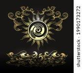esoteric illustration of sun... | Shutterstock .eps vector #1990173272