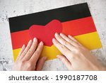 I Love Germany. Red Heart...