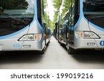 new modern city bus | Shutterstock . vector #199019216