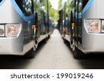 new modern city bus | Shutterstock . vector #199019246