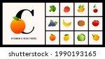 vitamin c rich fruits set...   Shutterstock .eps vector #1990193165