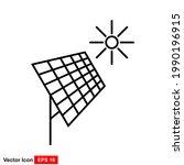 solar panel vector icon solar...   Shutterstock .eps vector #1990196915
