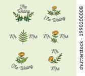 set of floral wedding label...   Shutterstock .eps vector #1990200008