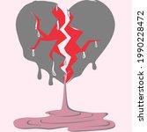 an vector of heart shape with...   Shutterstock .eps vector #1990228472