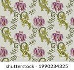 vector ornamental hand drawing...   Shutterstock .eps vector #1990234325
