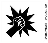 fist  forward punch icon vector ...   Shutterstock .eps vector #1990238435
