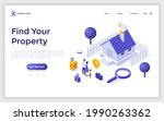 landing page template with... | Shutterstock .eps vector #1990263362