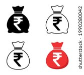 set of money bag icon isolated... | Shutterstock .eps vector #1990280042