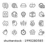 vector set of freezing timer ...   Shutterstock .eps vector #1990280585