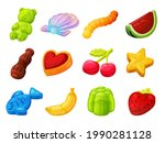 collection gummy candy vector...   Shutterstock .eps vector #1990281128