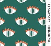 vector magical eyes on green... | Shutterstock .eps vector #1990299155
