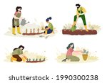 organic farming  agriculture...   Shutterstock .eps vector #1990300238