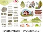 set of natural vector...   Shutterstock .eps vector #1990304612