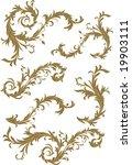 vector scene floral design...   Shutterstock .eps vector #19903111