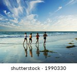 Four Women Go Jogging On The...