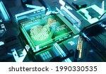 online and digital biometric... | Shutterstock . vector #1990330535