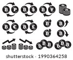 icon set of coins with the... | Shutterstock .eps vector #1990364258