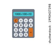 calculator color line icon....