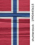 The Flag Of Norway On A Dry...
