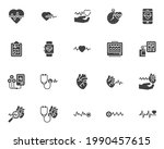 cardiology vector icons set ... | Shutterstock .eps vector #1990457615