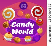 candy world square banner...