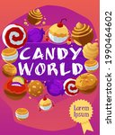 candy world banner with candy...