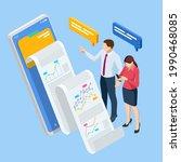 isometric expert team for data... | Shutterstock .eps vector #1990468085