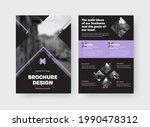 brochure template with vector... | Shutterstock .eps vector #1990478312