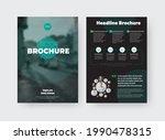 vector brochure template with... | Shutterstock .eps vector #1990478315
