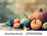 Fall Still Life With Pumpkins...