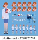 doctor woman character creation ...   Shutterstock .eps vector #1990493768