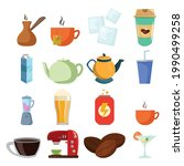 Drinks Vector Clip Art Set With ...