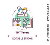 Tmt Tenure Concept Icon. Top...