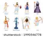 greek gods. aphrodite  dionysus ...   Shutterstock .eps vector #1990546778
