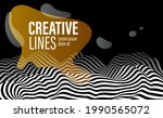 3d black and white lines in... | Shutterstock .eps vector #1990565072