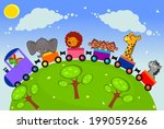 the nice african animals travel ... | Shutterstock .eps vector #199059266