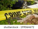 yellow tape barrier surrounding ... | Shutterstock . vector #199064672