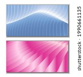 metallic blue and pink stripes  ... | Shutterstock .eps vector #1990661135