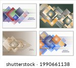 abstract background  set of 4... | Shutterstock .eps vector #1990661138