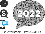 mosaic 2022 chat message icon...   Shutterstock .eps vector #1990663115