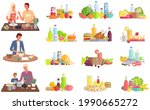 set of illustrations about...   Shutterstock .eps vector #1990665272