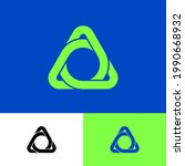 triangle logo consist of... | Shutterstock .eps vector #1990668932