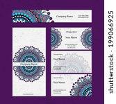 set retro business card. vector ...   Shutterstock .eps vector #199066925