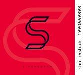 s impossible letter. s monogram ... | Shutterstock .eps vector #1990669898